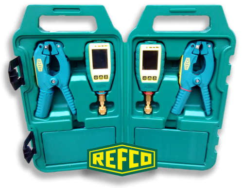 Wireless Temperature and Pressure Gauge double set -  TAP-DOUBLE -  plastic handy case - REFCO 4687789