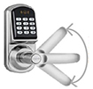 Electronic code locks with deadbolt mortise