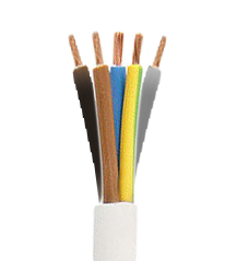 Electrical Cable 5x1.50 mm type H05VV F