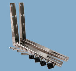 Stand (bracket) for air-conditioner up to 12000Btu  L= 500 -  INOX - MIRROR POLISHED