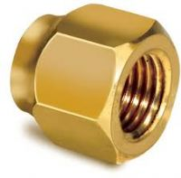 "Forged brass nut 1/4"" N-04"